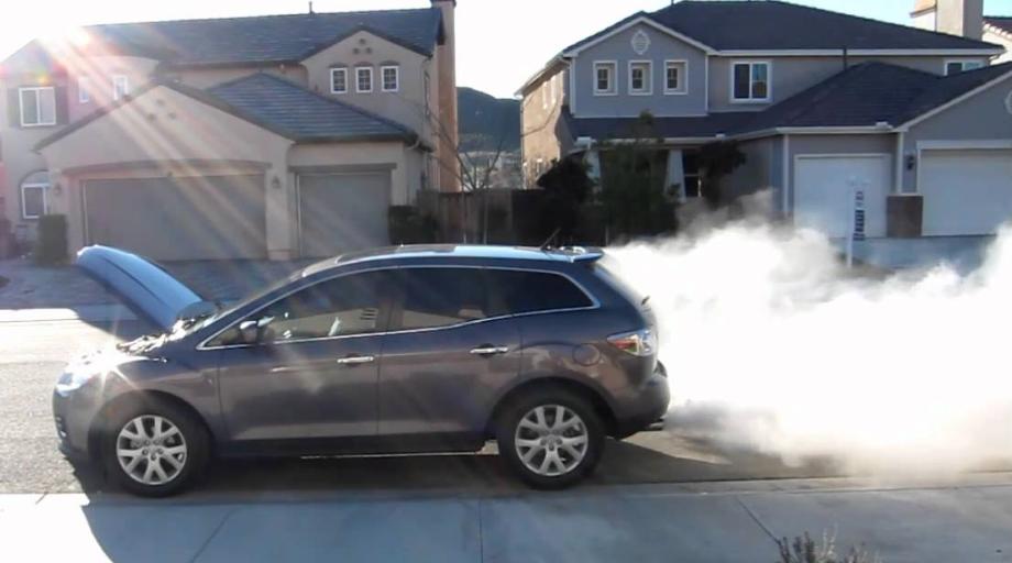 Mazda CX7 blowing smoke